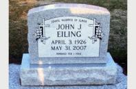 Single Grave Monument for John Eiling 12921