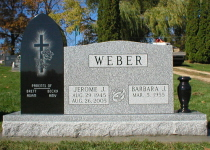 Weber (China grey with Jet Black Steeple)